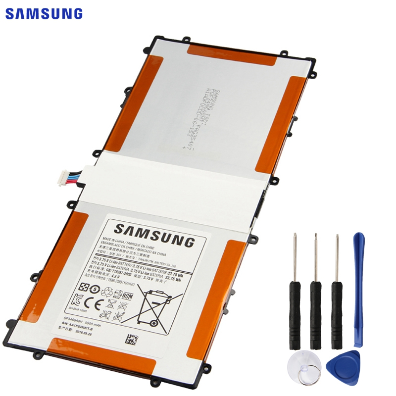 Batterie de remplacement d'origine SAMSUNG SP3496A8H pour Samsung Google Nexus 10 GT-P8110 HA32ARB batterie de tablette authentique 9000 mAh