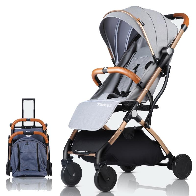 Landau poussette légère Portable poussette de voyage bébé poussette peut être dans l'avion kinderwagen pays de l'ue sans taxe