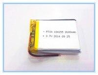 3 7 V tablet batterie 2600 mah 104255 mobile power supply tablet GPS navigator