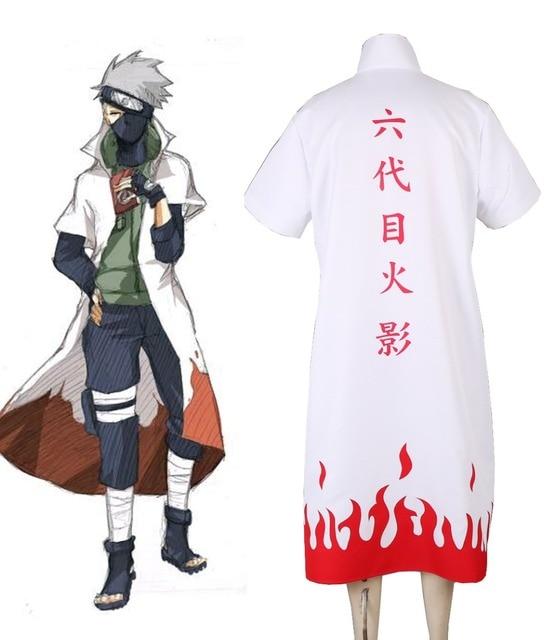 Free Shipping Naruto Shippuden Hatake Kakashi Sixth Hokage Cloak Cosplay Costume
