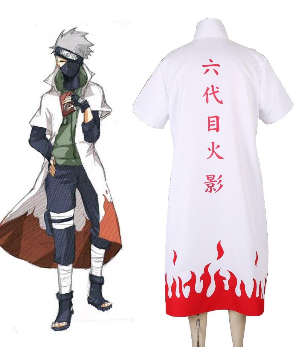 Free Shipping font b Naruto b font Shippuden Hatake Kakashi Sixth Hokage Cloak font b Cosplay