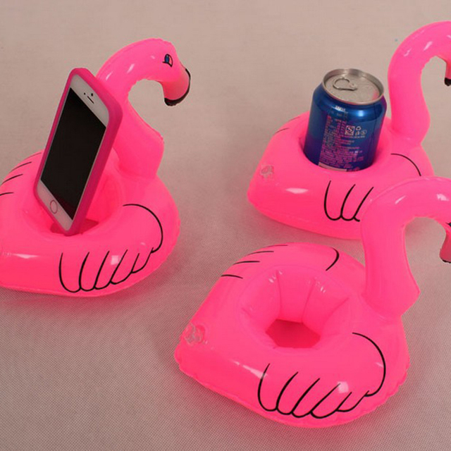 10pcs Unicorn Pink Flamingo Inflatable Drink Holders