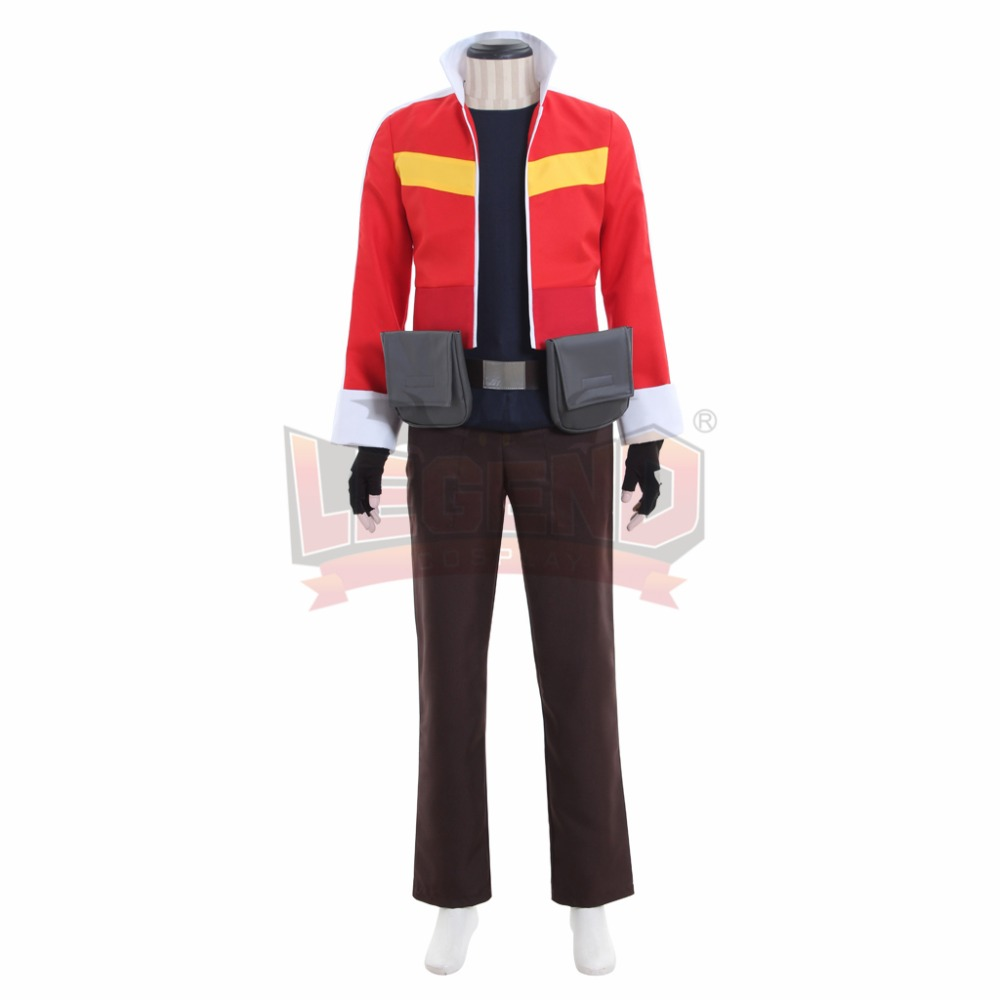 Cosplay legend Voltron Legendary Defender Keith Cosplay Costume Suit All Size red full set