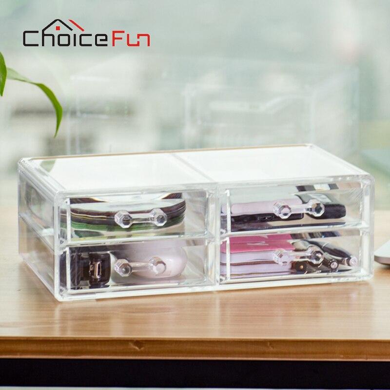 Makeup Organizer Storage-Box Office-Stationery-Holder Drawer Desktop Plastic New FUN