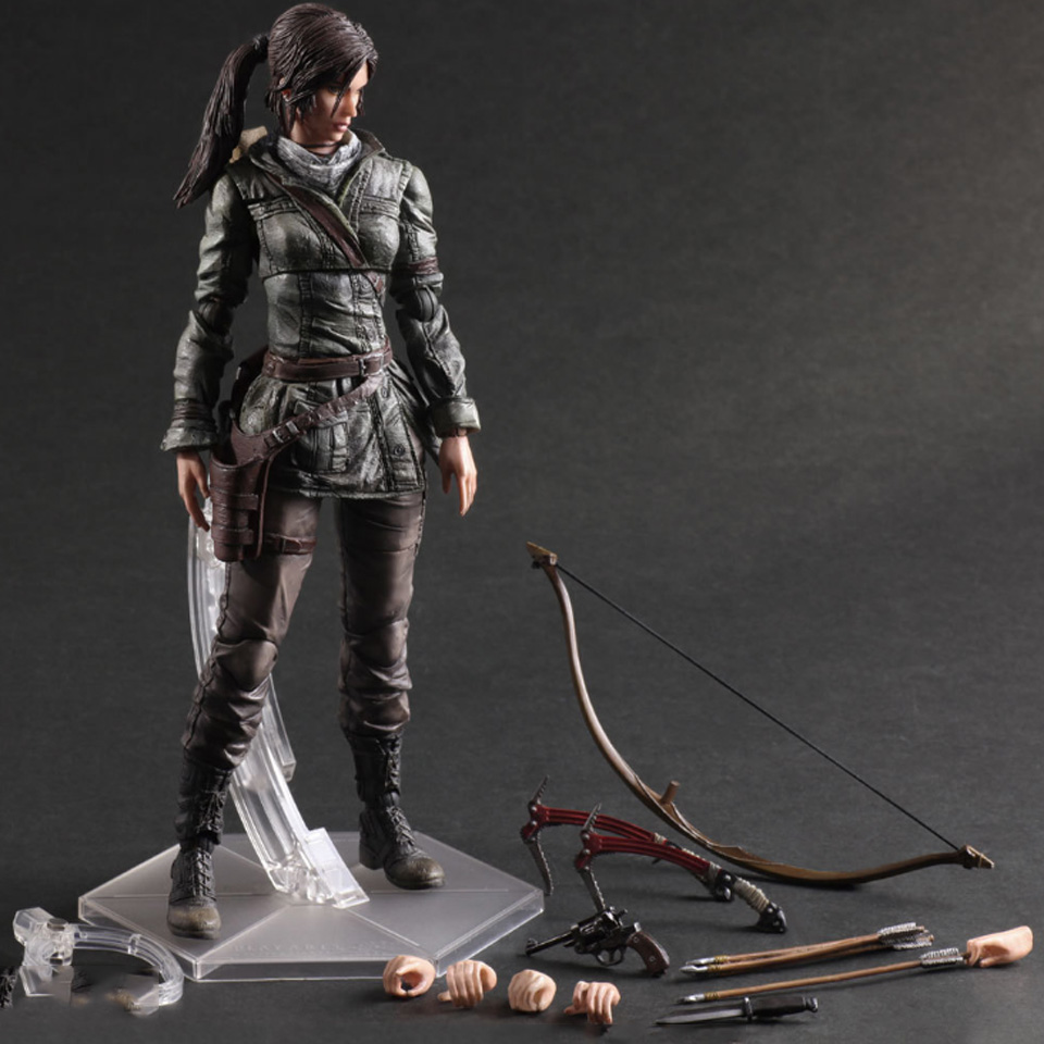 Tronzo Action Figure 26cm The Tomb Raider Figure PVC Lara Croft Figure Toys Play Arts Kai Toys Collectible Model Toy For Boy цена