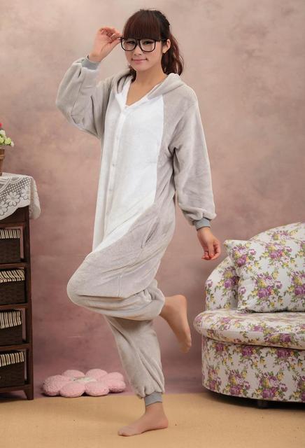 Shineye Koala pijamas Cosplay Unisex Adultos ropa de Dormir de Franela Informal Con Capucha Animal Lindo de la Historieta de Leopardo Para Las Mujeres Los Hombres