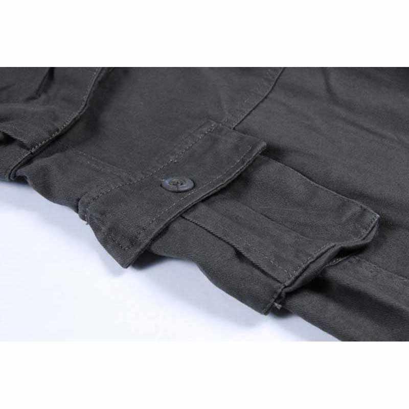 Демисезонный Для мужчин брюки-карго хлопок Повседневное Свободные мешковатые хип-хоп штаны прямые брюки много карман плюс Размеры джоггеры 30-44
