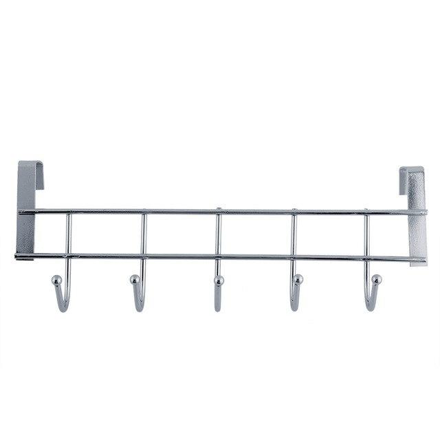 5 hooks Stainless Steel Clothes Hooks Door Rack Bathroom Kitchen bedroom  Hanger hanging Loop Organizer