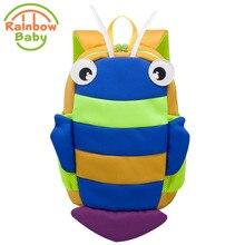 Rainbow Baby Blue Bee SchoolBag Anti Lost Kids & Babys Bags Urltra-Light Boys and Girls Bagpack Waterproof Backpack