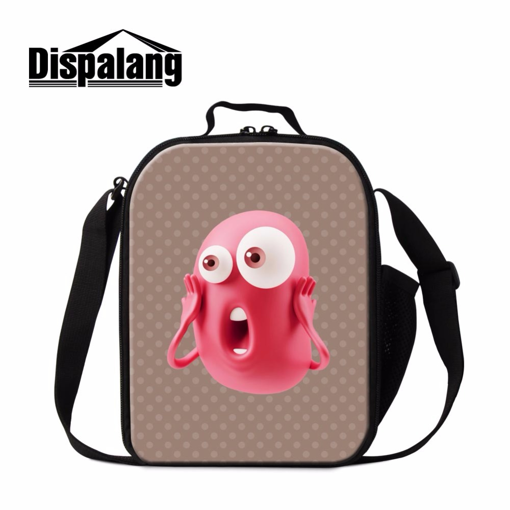 Dispalang hot cartoon kids cute lunch bag campus food bags for kindergarten baby students cooler lunch boxs boys isothermal bag
