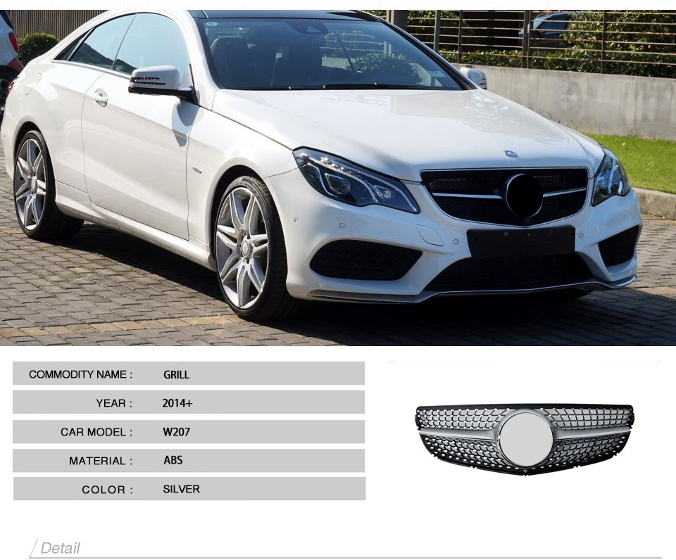 Us 258 5 2014 2015 2016 W207 Diamond Style Front Racing Grill Grille For Mercedes Benz E Class W207 Coupe 2 Door In Racing Grills From Automobiles