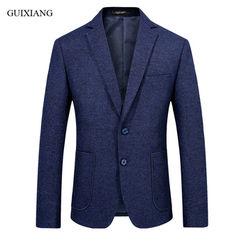 New Arrival Spring And Autumn Style Men Boutique Woolen Blazers Business Casual Single Breasted Slim Plaid Suit Coat Size S-2XL