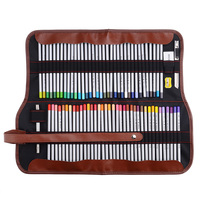 Marco Raffine Fine Art Colored Pencils 72 Color+Rubber Eraser Set+Roll UP Washable Canvas Pencil Bag Easy Carrying