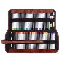 Marco Raffine Fine Art Colored Pencils 72 Color+Rubber Eraser Set+Roll UP Washable Canvas Pencil Bag Easy Carrying