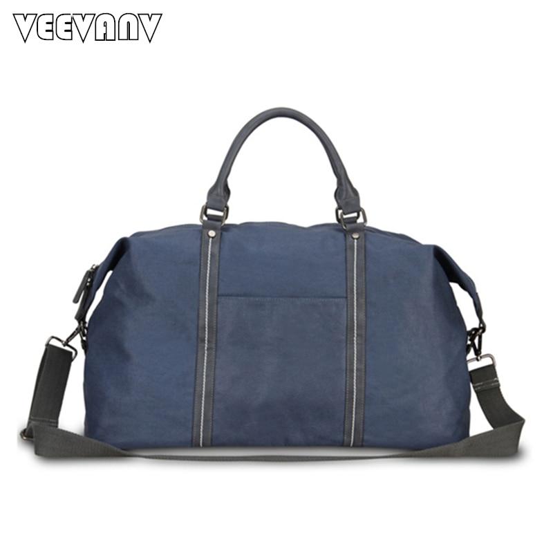 a0bf8a378f3 2018 Fashion Men Handbag Travel Bags Large Capacity Women Luggage Duffle Bag  Canvas Folding Bag For Trip Shoulder Bag Waterproof