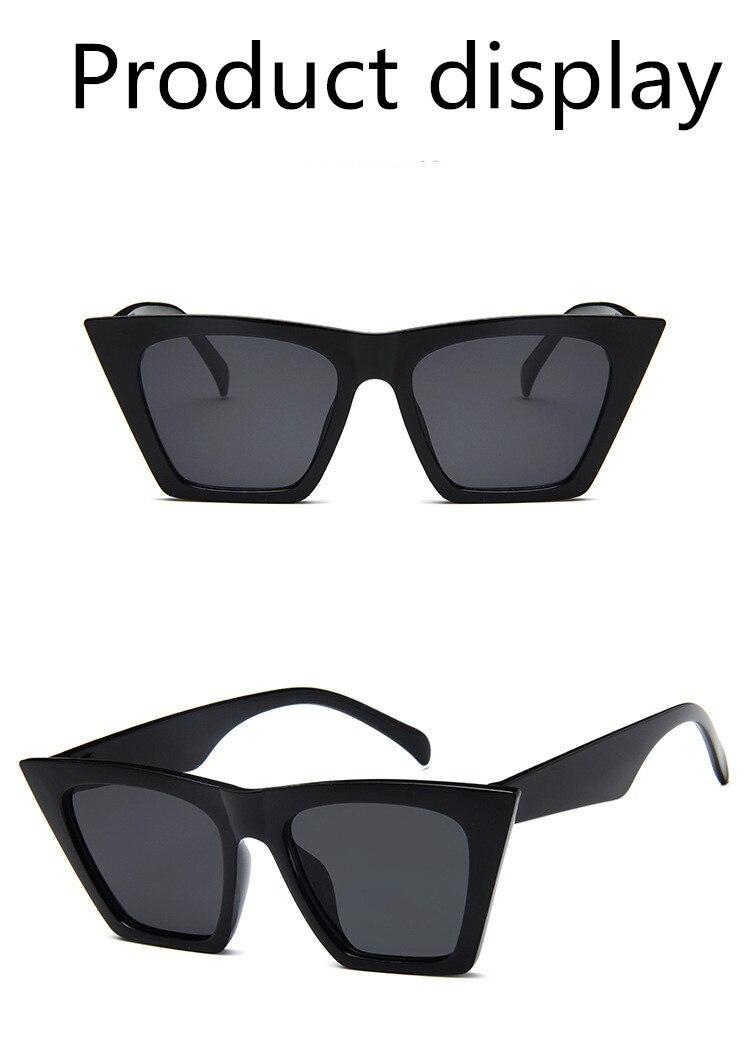 ASUOP2018 New ladies retro cat eye glasses high-end brand travel fashion men's sunglasses sports square UV400 transparent sunglasses (3)