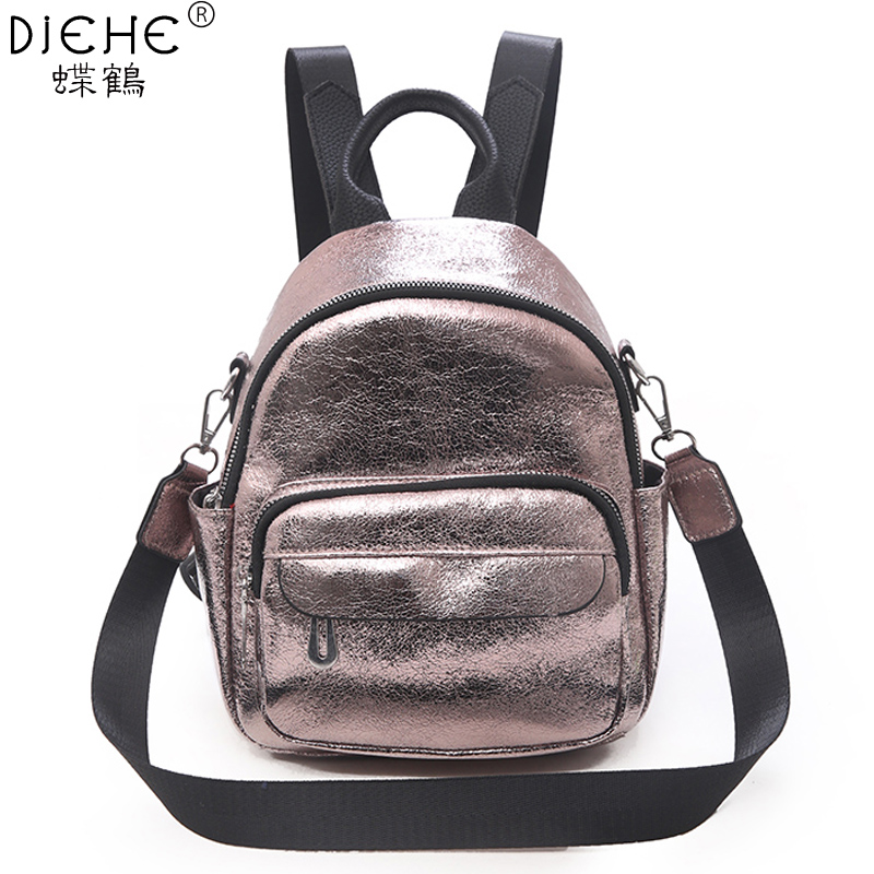 Fashion Women Pu Backpack Mini Soft Leather Multi-Function Small Backpacks Female Ladies Shoulder Bag School Backpack For Teenge