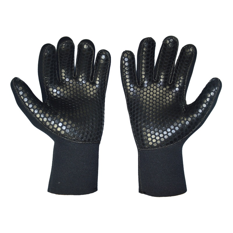 Black Men Women Diving Gloves 5mm Neoprene Scuba Wetsuit Handsker til Svømning Winter Fishing Spearfishing Underwater Jagt