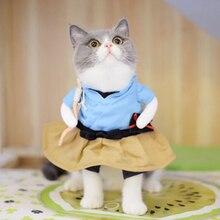 Divertente Costumi Urashima Taro Cosplay del Vestito Del Gatto Del Cane Pet  Abbigliamento Vestiti Di Halloween f87b9fdb923
