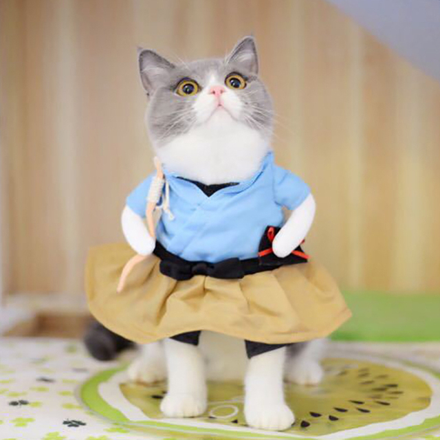 Funny Dog Cat Costumes Urashima Taro Cosplay Suit Pet Apparel Halloween Christmas  Clothes For Puppy Dogs Costume for a cat - Funny Dog Cat Costumes Urashima Taro Cosplay Suit Pet Apparel