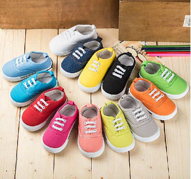 2014 NEW ARRIVAL ! candy color children girls boys soft outsole canvas shoes free shipping kids sneakers new arrival eight color