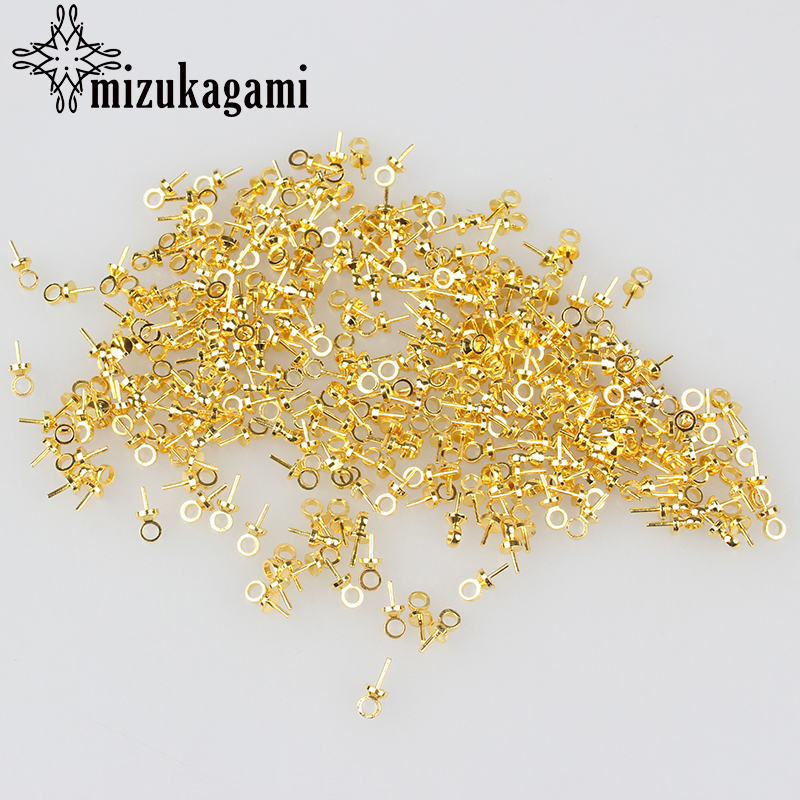 Free Shipping 100pc/lot 3*7MM Golden Metal Sheep Eyes Drill Hole On Ball Bead Top For DIY Jewelry Findings Part Accessories