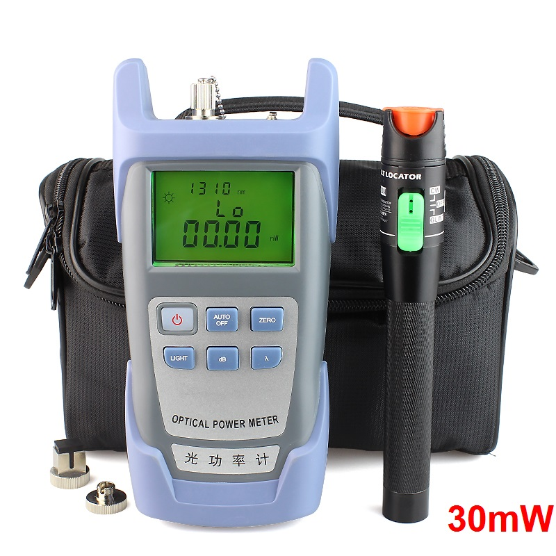 bilder für Handheld Optischen Leistungsmesser und 30 mw Fiber Optic Laser Visuellen Fehlersuchhilfe, Rot Laser Glasfaserkabel Tester