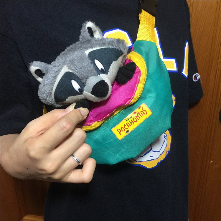 Pocahontas Meeko Raccoon Waist Bag Plush Toy