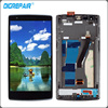Black LCD Display Touch Screen With Digitizer Full Assembly Repair Parts With Frame For Oneplus One