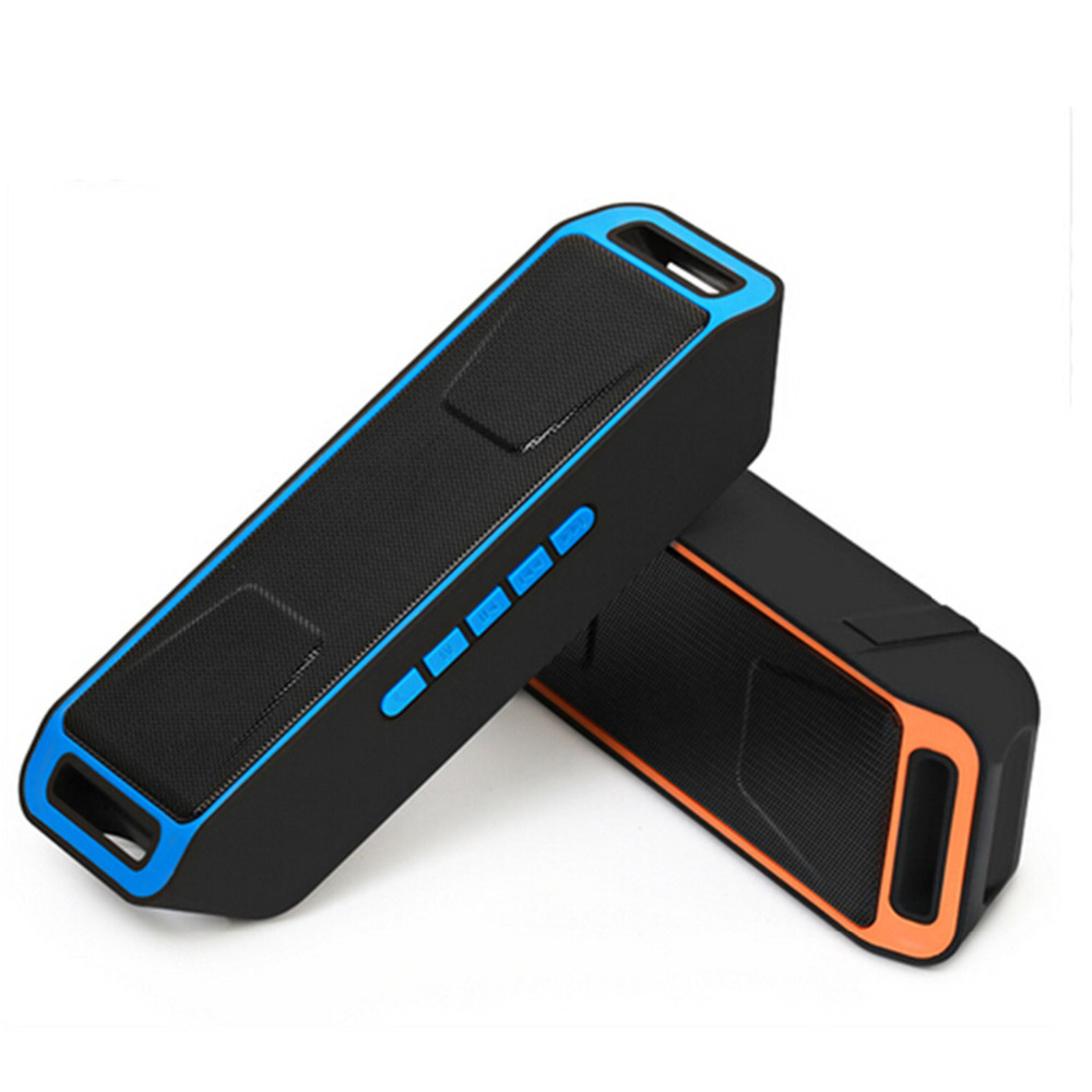 SC208 Portable Sans Fil Bluetooth Haut-Parleur Avec Radio FM Stéréo Subwoofer Boombox Micro Intégré Deux Haut-parleurs TF de Soutien USB AUX
