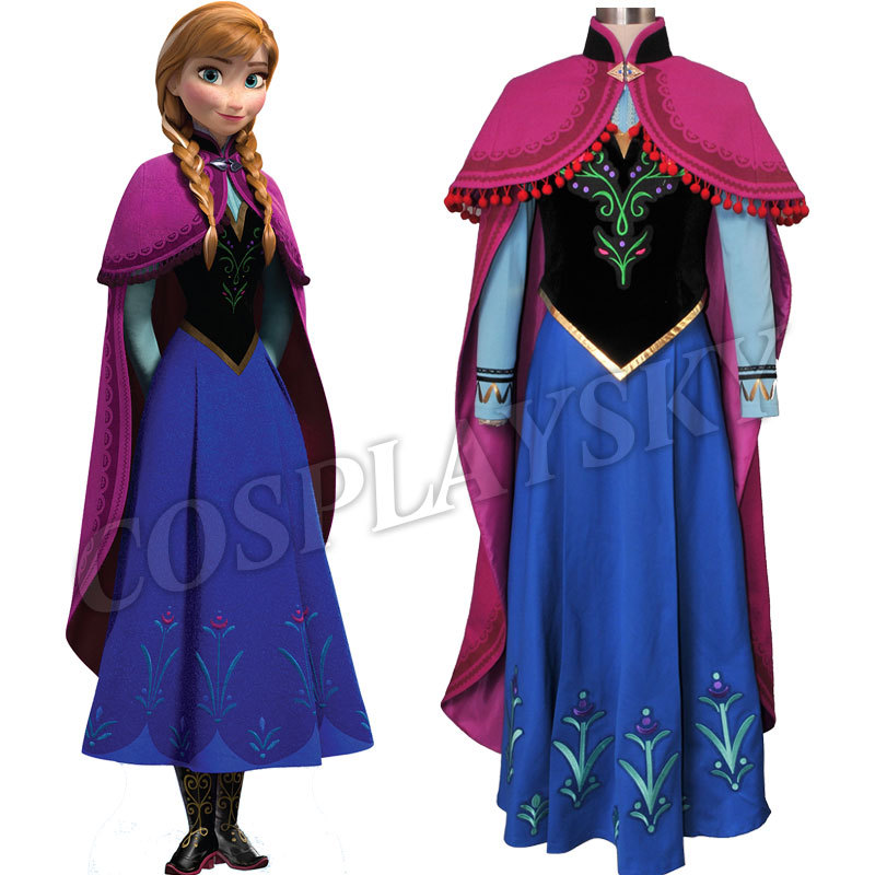 Aliexpress.com : Buy Snow Princess Anna Cosplay Costume ...
