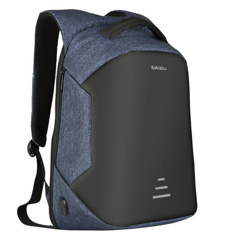 d55607546a 2018 Urban Backpacks Men USB Charge Laptop Backpack Minimalist Fashion Anti  theft Backpack Casual Mochila Waterproof Travel Bags-in Backpacks from  Luggage ...