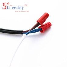 2016 NEW 100pcs/lot P3 Electrical Wire Twist Nut Connector Terminals Cap Spring Insert Assortment Color Orange
