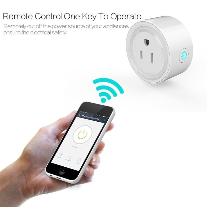 220V Smart Home WiFi Smart Socket Smartphone US Plug Switch Outlet Work With Amazon Alexa App Control iOS Android Smart Button