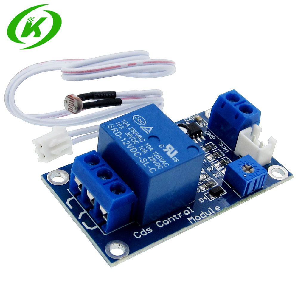 XH-M131 DC  12V Light Control Switch Photoresistor Relay Module Detection Sensor 10A Brightness Automatic Control Module