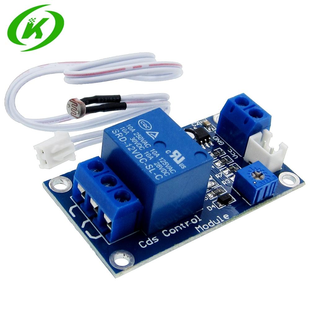 XH-M131 DC  12V Light Control Switch Photoresistor Relay Module Detection Sensor 10A Brightness Automatic Control Module