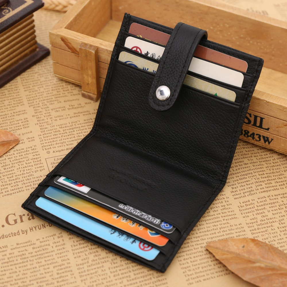 Jinbaolai Genuine Leather Credit Card Holder Student Id Card