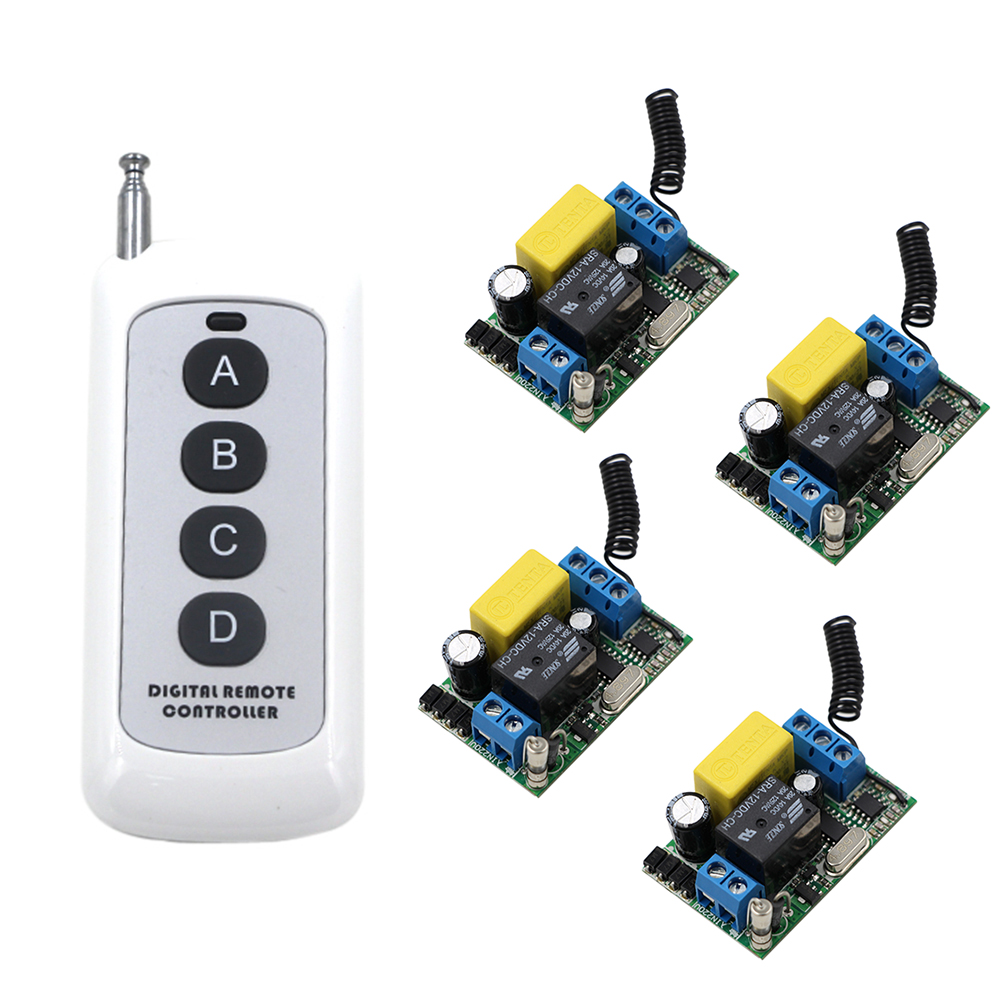 RF Digital Remote Controller Wireless Remote Control Relay Switch Receiver Security System Garage Doors AC220V New Arrival