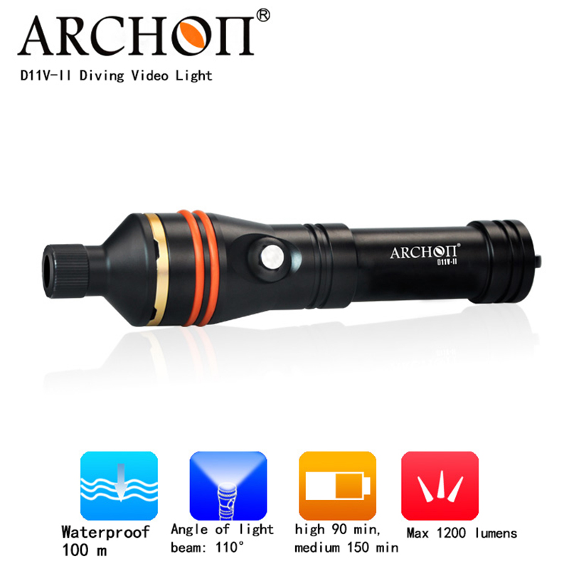 Underwater lamp photography light ARCHON D11V-II Professional diving flashlight CREE XM-L2 U2 LED 1200LM waterproof dive torch perceptions of educational leaders on student reading achievement