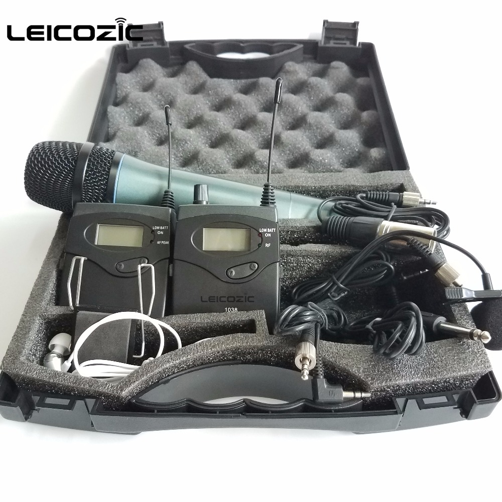 Leicozic Wireless tour guide system BK1038 DSLR Camera Interview Recording 2 transmitter 1 receiver wireless monitor 740-771Mhz niorfnio portable 0 6w fm transmitter mp3 broadcast radio transmitter for car meeting tour guide y4409b