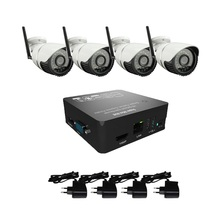 4ch CCTV System full HD cctv kit NVR Recorder 2.0MP wireless camera 1080p ip camera Security Video System free shipping