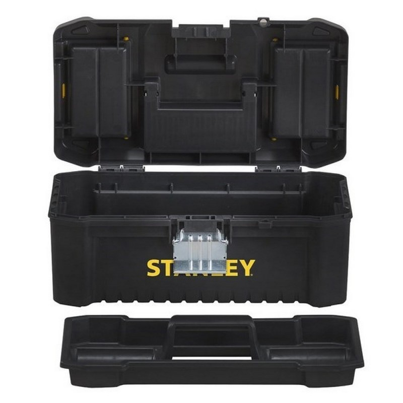 STANLEY STST1-75518-Plastic Toolbox 16 Inch Single-40 Cm With Metal Closure