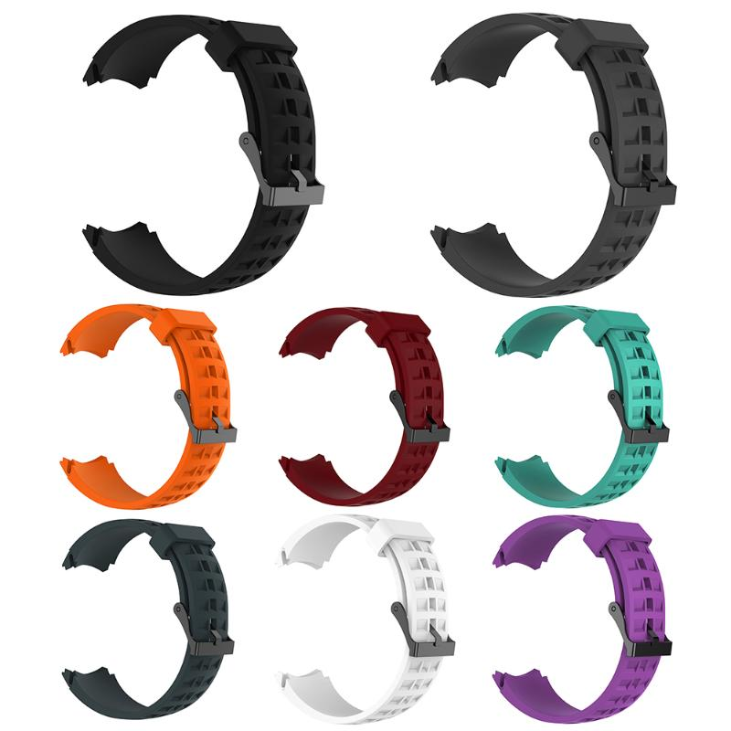 Silicone Watchband Luxury Rubber Watch Replacement Band Strap for SUUNTO CORE correa de reloj pulseira eache silicone watch band strap replacement watch band can fit for swatch 17mm 19mm men women