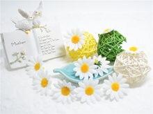10pcs Small Silk Sunflower Handmake Artificial Flower Head Wedding Decoration DIY Wreath Gift Box Scrapbooking Craft Fake Flower