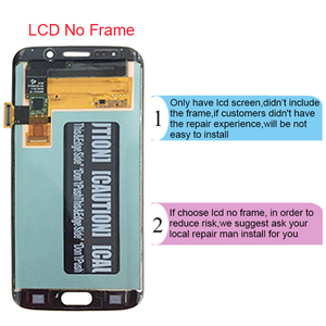 Image 3 - For Samsung Galaxy S6 Edge LCD G925 G925F SM G925F LCD Display Touch Screen Assembly With Frame For Samsung S6 Edge LCD