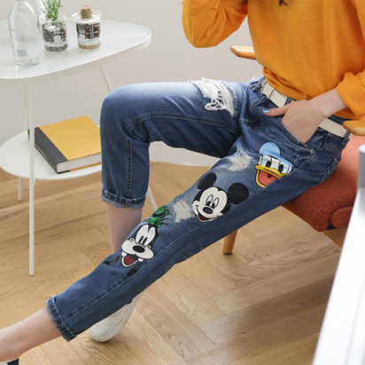 2016 Fashion summer Jeans women large size women pants slim jeans woman tights lady Jeans XL