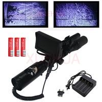 ホット新しい屋外狩猟オプティクス視力戦術デジタル赤外線ナイトビジョンライフル銃でバッテリモニタと懐中電灯