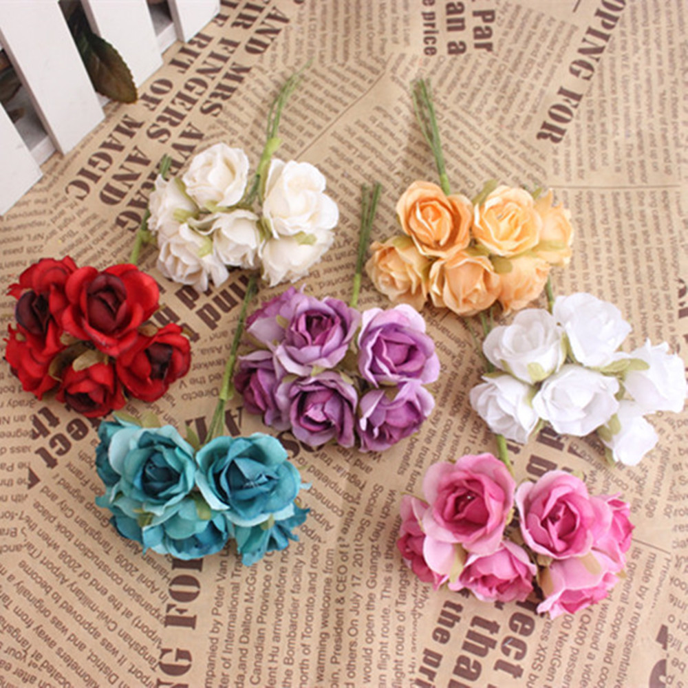 60 pcs small roses silk flowers the simulation flowers red 60 pcs small roses silk flowers the simulation flowers red false manual 1 wreathe flowers bouquets 6 parts mightylinksfo