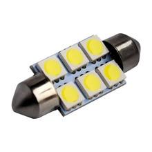 Super White 31mm 36mm 39mm Festoon 5050 SMD 6 LED C5W Auto Interior Dome Door Light Lamp Bulb Car Pathway lighting 12V Work Lamp