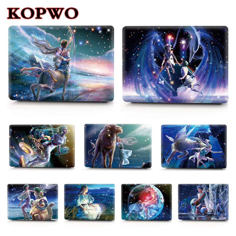 KOPWO 12 Zodiac Sign Constellations Series Laptop Protect Case for font b Apple b font font